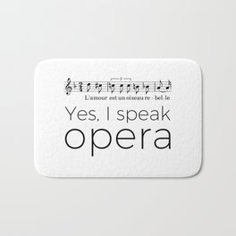 I speak opera (mezzo-soprano) Bath Mat