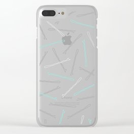 Bobby Pins Clear iPhone Case