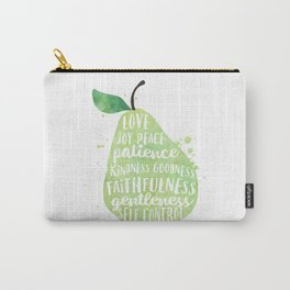 Watercolor pear | Fruit of the spirit | Green watercolor pear art print Carry-All Pouch
