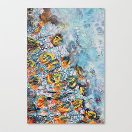 Orange in turquoise Canvas Print