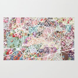 Charlottesville map Virginia Rug