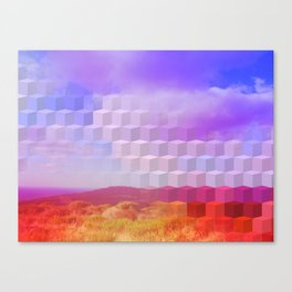 Ultra Surreal Countryside Violet Rainbow Canvas Print