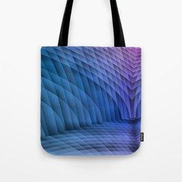 Geometric Path Blue-Pink Tote Bag