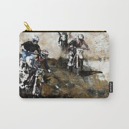 """""""Dare to Race"""" Motocross Dirt-Bike Racers Carry-All Pouch"""