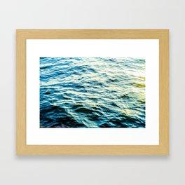 Ocean Texture Framed Art Print