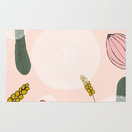 Blushing Blooms Rug