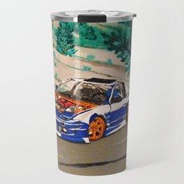 blue nissan 240sx Travel Mug