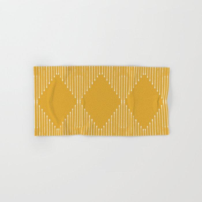 Geo / Yellow Hand & Bath Towel
