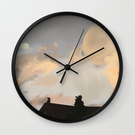 wouldn't it be cool if Saturn was super close Wall Clock