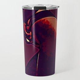 Red body illustration Travel Mug