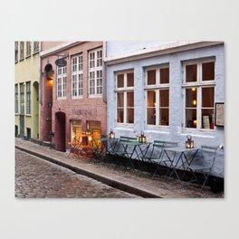 Copenhagen Sidewalk Cafe Canvas Print