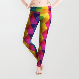 Geometric Galaxy - All the Colors of the Rainbow Leggings
