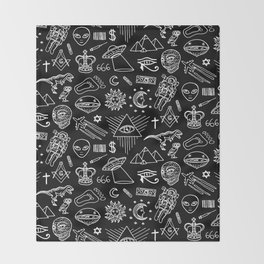 Conspiracy pattern Throw Blanket