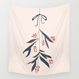 Mistletoe and love Wall Tapestry
