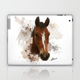 Brown and White Horse Watercolor Laptop & iPad Skin