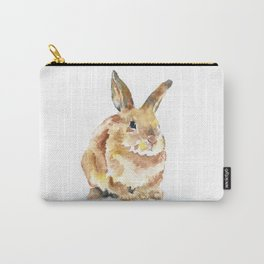Bunny Rabbit Watercolor Painting - Woodland Animal Art Carry-All Pouch