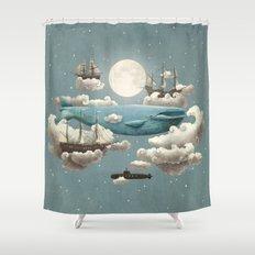 Ocean Meets Sky - colour option Shower Curtain