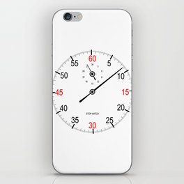 Stop Watch Face iPhone Skin