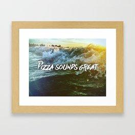 Pizza Waves Framed Art Print