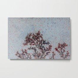 Sakura Moss Agate Metal Print