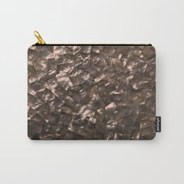 Glitter Rose Gold Shimmering Mother of Pearl Nacre Carry-All Pouch