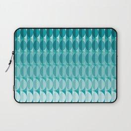 Leaves in the moonlight - a pattern in teal Laptop Sleeve