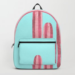 Garden of cacti and blue Backpack