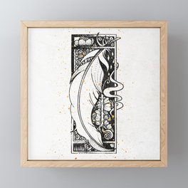 Wing Feather Inktober :: Bronzed Angels Barefoot Framed Mini Art Print