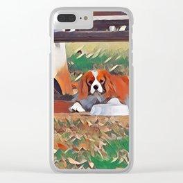 Quinn the Cavalier King Charles Clear iPhone Case