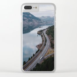 Columbia River Gorge III Clear iPhone Case