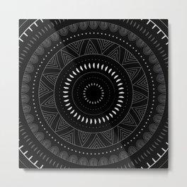 Doodle Circle Metal Print