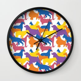 Dog Pattern 2 Wall Clock