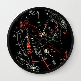 Composizione I negativ Wall Clock
