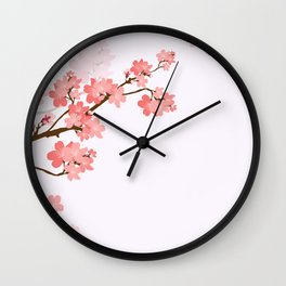 Blooming cherry tree Wall Clock