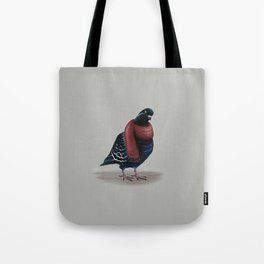 Pigeon with Scarf Tote Bag