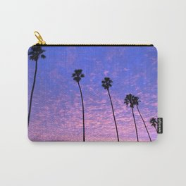 """Sunsets """"Blue Butterfly Palms"""" Carry-All Pouch"""