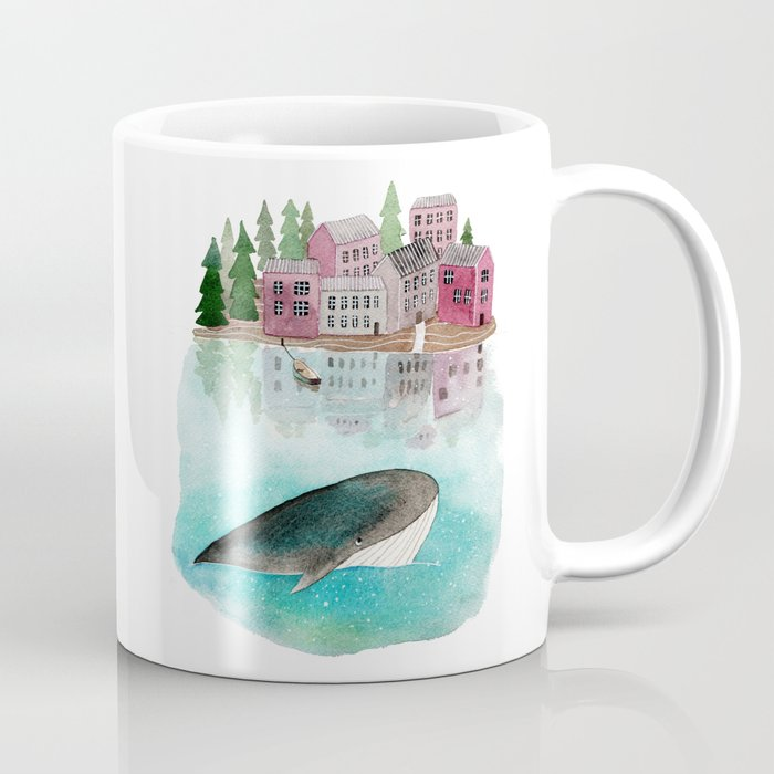 A whale is passing by Coffee Mug
