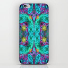 Coulorful transparent patterns, fractal abstract iPhone Skin