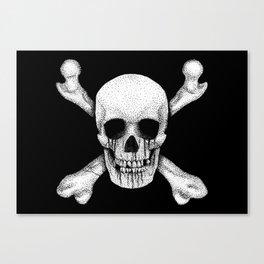 Jolly Roger Pirate Skull Flag Canvas Print