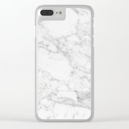 White Marble Edition 2 Clear iPhone Case