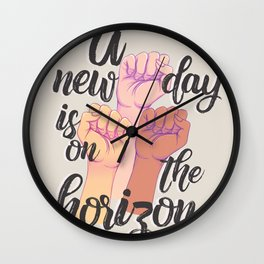 A new day is on the horizon Wall Clock