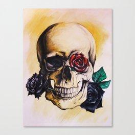 Skulls and Roses Canvas Print