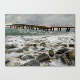 Wave by side Canvas Print
