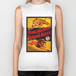 Vintage Circus Poster - Tiger & Lion Biker Tank