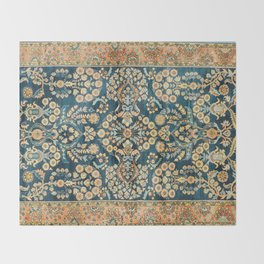 Sarouk  Antique West Persian Rug Print Throw Blanket