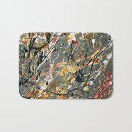 Jackson Pollock Interpretation Acrylics On Canvas Splash Drip Action Painting Bath Mat