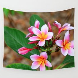 Plumeria Floral Art - Tropical Queen - Sharon Cummings Wall Tapestry