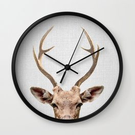 Deer - Colorful Wall Clock