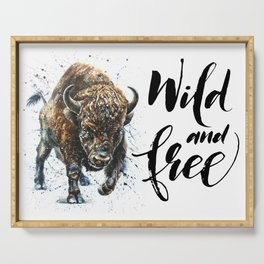 Buffalo Wild and Free Serving Tray