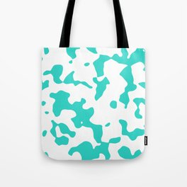 Large Spots - White and Turquoise Tote Bag